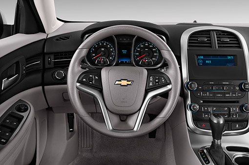 AUT 30 IZ2542 01 © Kimball Stock 2015 Chevrolet Malibu 1LS 4-Door Sedan Interior Detail