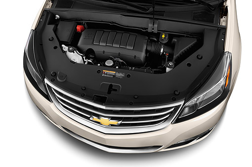 AUT 30 IZ2566 01 © Kimball Stock 2015 Chevrolet Traverse 3.6 AT 2LT 5-Door SUV Engine Detail