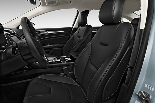 AUT 30 IZ2583 01 © Kimball Stock 2015 Ford Fusion Energi Plug-In Hybrid Titanium 4-Door Sedan Interior Detail