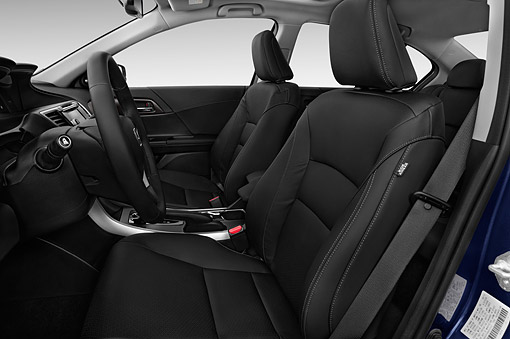 AUT 30 IZ2603 01 © Kimball Stock 2015 Honda Accord Hybrid 4-Door Sedan Interior Detail