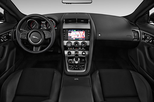 AUT 30 IZ2636 01 © Kimball Stock 2015 Jaguar F-Type Base 2-Door Convertible Interior Detail