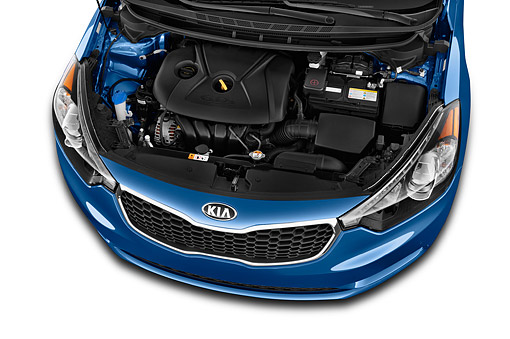 AUT 30 IZ2666 01 © Kimball Stock 2015 KIA Forte EX AT 4-Door Sedan Engine Detail