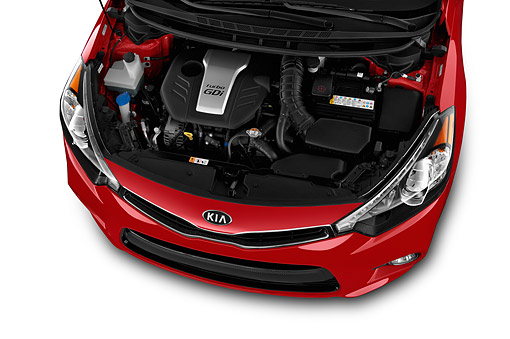 AUT 30 IZ2670 01 © Kimball Stock 2015 KIA Forte Koup SX AT 2-Door Engine Detail
