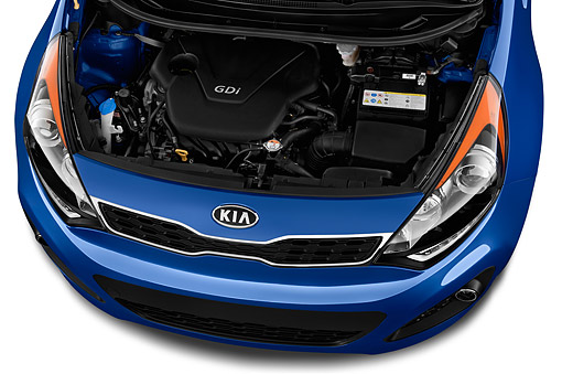 AUT 30 IZ2682 01 © Kimball Stock 2015 KIA Rio-5 AT SX 5-Door Hatchback Engine Detail