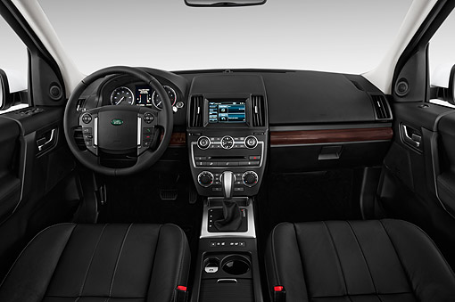 AUT 30 IZ2696 01 © Kimball Stock 2015 Land Rover LR2 Base 5-Door SUV Interior Detail