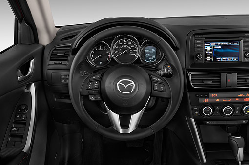 AUT 30 IZ2826 01 © Kimball Stock 2015 Mazda CX-5 Grand Touring Auto 5-Door SUV Interior Detail