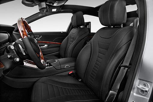 AUT 30 IZ2884 01 © Kimball Stock 2015 Mercedes Benz S-Class 550 4-Door Interior Detail