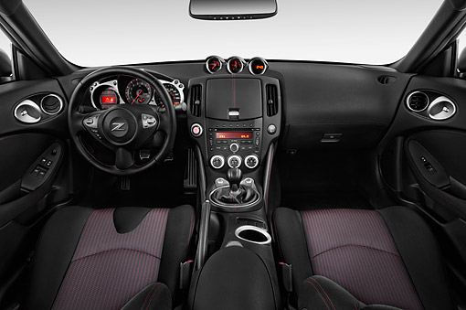 AUT 30 IZ2889 01 © Kimball Stock 2015 Nissan 370z Coupe Nismo 2-Door Interior Detail