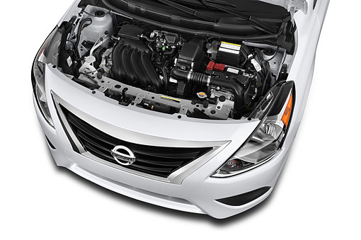 AUT 30 IZ2903 01 © Kimball Stock 2015 Nissan Versa Sedan 1.6 SV CVT 4-Door Engine Detail