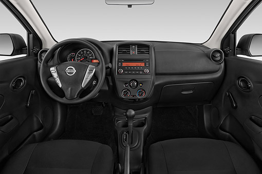 AUT 30 IZ2905 01 © Kimball Stock 2015 Nissan Versa Sedan 1.6 SV CVT 4-Door Interior Detail
