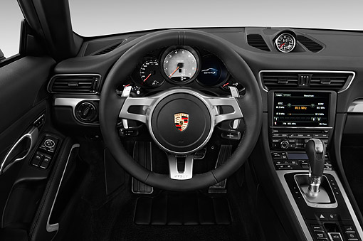 AUT 30 IZ2910 01 © Kimball Stock 2015 Porsche 911 Carrera Coupe 2-Door Interior Detail