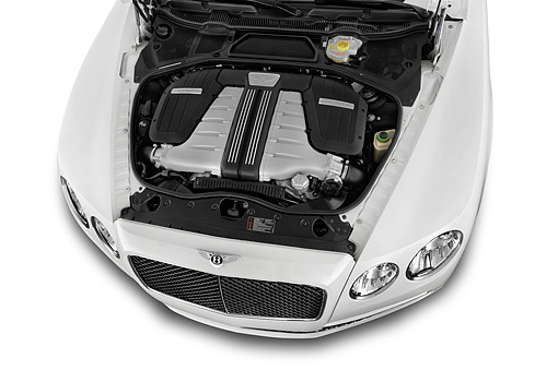 AUT 30 IZ2939 01 © Kimball Stock 2014 Bentley Continental Flying Spur Sedan 4-Door Engine Detail