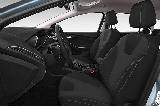 AUT 30 IZ2952 01 © Kimball Stock 2014 Ford Focus BEV Electric 5-Door Hatchback Interior Detail