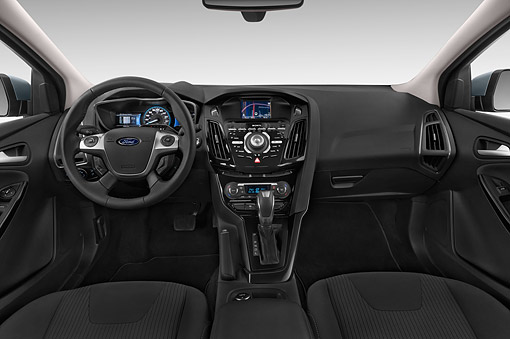 AUT 30 IZ2953 01 © Kimball Stock 2014 Ford Focus BEV Electric 5-Door Hatchback Interior Detail
