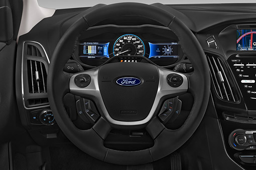 AUT 30 IZ2954 01 © Kimball Stock 2014 Ford Focus BEV Electric 5-Door Hatchback Interior Detail