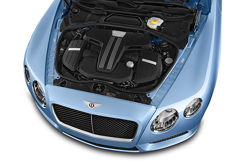 AUT 30 IZ2955 01 © Kimball Stock 2014 Continental GT V8 Coupe 2-Door Engine Detail