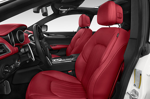 AUT 30 IZ2960 01 © Kimball Stock 2014 Maserati Ghibli Base 4-Door Sedan Interior Detail