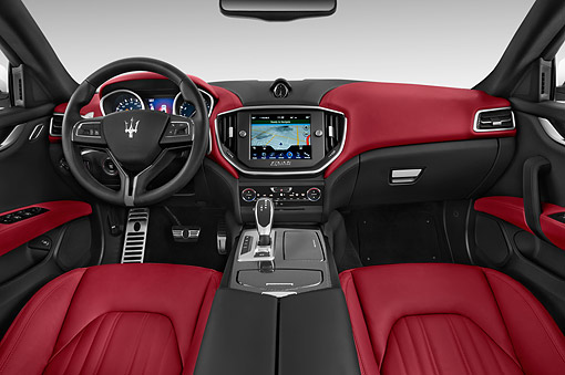 AUT 30 IZ2961 01 © Kimball Stock 2014 Maserati Ghibli Base 4-Door Sedan Interior Detail