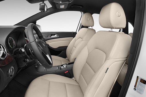 AUT 30 IZ2964 01 © Kimball Stock 2014 Mercedes Benz B Class Electric Drive 5-Door MPV Interior Detail