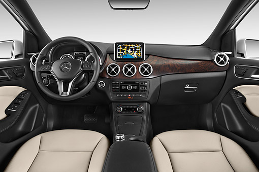 AUT 30 IZ2965 01 © Kimball Stock 2014 Mercedes Benz B Class Electric Drive 5-Door MPV Interior Detail