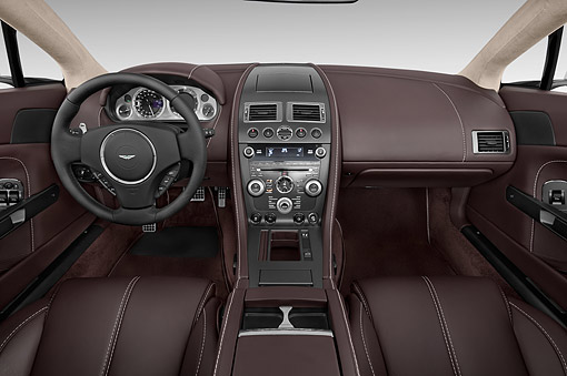 AUT 30 IZ2977 01 © Kimball Stock 2015 Aston Marton V8 Vantage Roadster 2-Door Convertible Interior Detail