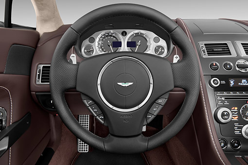 AUT 30 IZ2978 01 © Kimball Stock 2015 Aston Marton V8 Vantage Roadster 2-Door Convertible Interior Detail