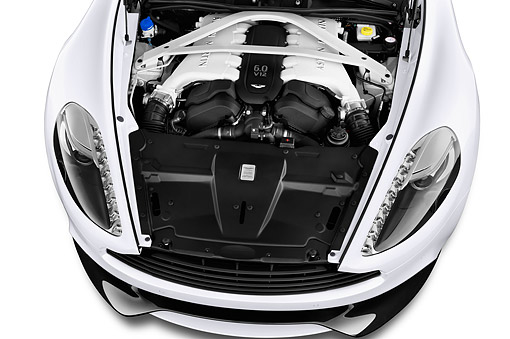 AUT 30 IZ2979 01 © Kimball Stock 2015 Aston Martin Vanquish Coupe 2-Door Engine Detail
