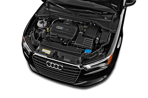 AUT 30 IZ2983 01 © Kimball Stock 2015 Audi A3 1.8 Premium Plus Cabriolet 2-Door Convertible Engine Detail