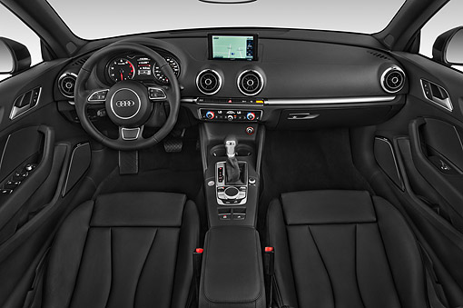 AUT 30 IZ2985 01 © Kimball Stock 2015 Audi A3 1.8 Premium Plus Cabriolet 2-Door Convertible Interior Detail