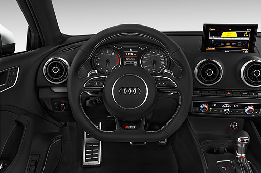 AUT 30 IZ2994 01 © Kimball Stock 2015 Audi S3 Premium Plus 4-Door Sedan Interior Detail