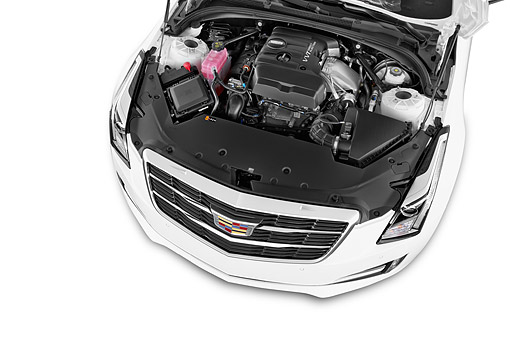 AUT 30 IZ3011 01 © Kimball Stock 2015 Cadillac ATS Coupe 2.0 RWD Premium 2-Door Engine Detail