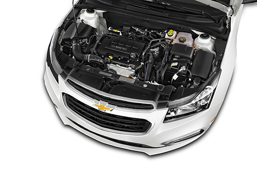AUT 30 IZ3015 01 © Kimball Stock 2015 Chevrolet Cruz Sedan 2LT Automatic 4-Door Engine Detail