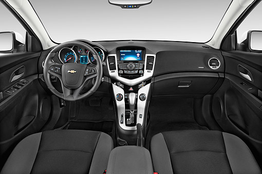 AUT 30 IZ3017 01 © Kimball Stock 2015 Chevrolet Cruz Sedan 2LT Automatic 4-Door Interior Detail