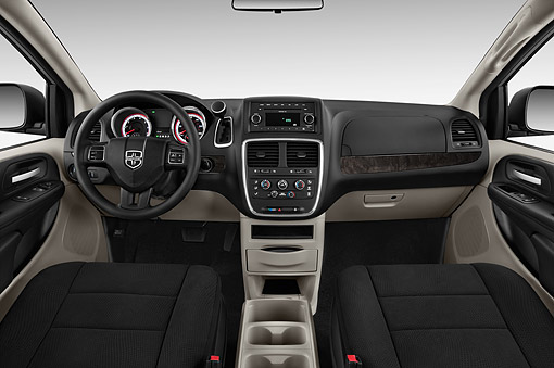 AUT 30 IZ3028 01 © Kimball Stock 2015 Dodge Grand Caravan SE 4-Door Mini Van Interior Detail