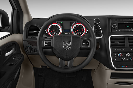 AUT 30 IZ3029 01 © Kimball Stock 2015 Dodge Grand Caravan SE 4-Door Mini Van Interior Detail