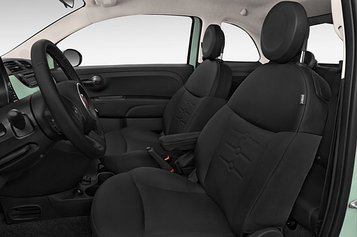 AUT 30 IZ3039 01 © Kimball Stock 2015 Fiat 500 Pop 3-Door Hatchback Interior Detail