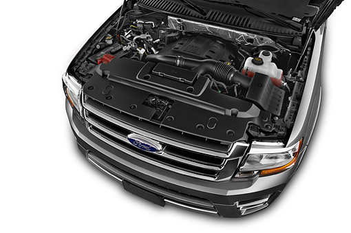 AUT 30 IZ3058 01 © Kimball Stock 2015 Ford Expedition XLT 5-Door SUV Engine Detail