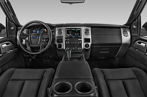 AUT 30 IZ3060 01 © Kimball Stock 2015 Ford Expedition XLT 5-Door SUV Interior Detail