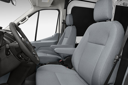 AUT 30 IZ3067 01 © Kimball Stock 2015 Ford Transit 250 Van Medium Roof Pass 130 Interior Detail