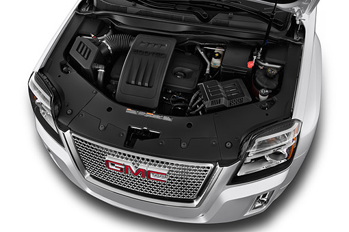 AUT 30 IZ3074 01 © Kimball Stock 2015 GMC Terrain FWD Denali 5-Door SUV Engine Detail
