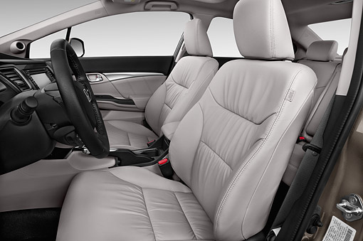 AUT 30 IZ3083 01 © Kimball Stock 2015 Honda Civic Sedan EX L Auto 4-Door Interior Detail