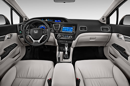 AUT 30 IZ3084 01 © Kimball Stock 2015 Honda Civic Sedan EX L Auto 4-Door Interior Detail