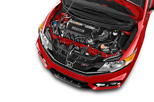 AUT 30 IZ3091 01 © Kimball Stock 2015 Honda Civic Si Coupe 2-Door Engine Detail