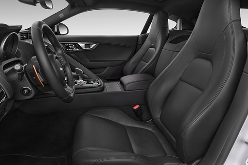 AUT 30 IZ3123 01 © Kimball Stock 2015 Jaguar F-Type S 2-Door Coupe Interior Detail