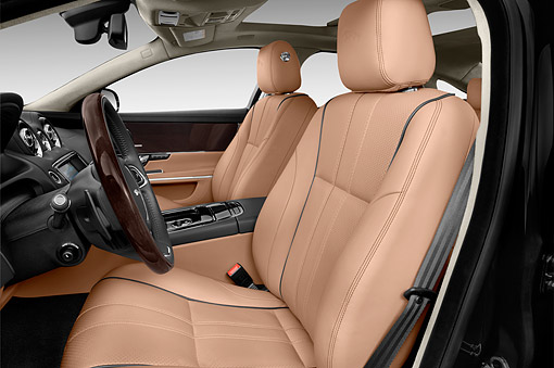 AUT 30 IZ3128 01 © Kimball Stock 2015 Jaguar XJ Series XJL Supercharged 4-Door Sedan Interior Detail