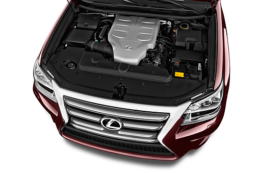 AUT 30 IZ3147 01 © Kimball Stock 2015 Lexus GX 460 5-Door SUV Engine Detail