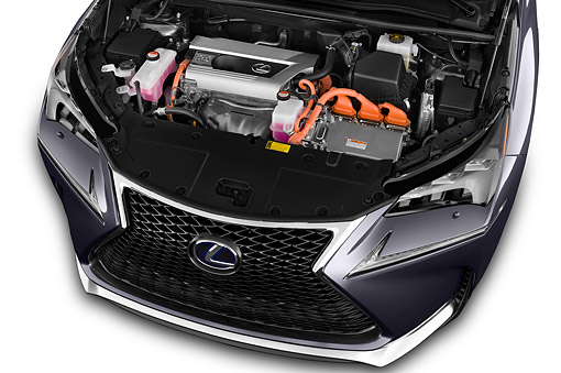 AUT 30 IZ3155 01 © Kimball Stock 2015 Lexus NX 300h 4x2 5-Door SUV Engine Detail