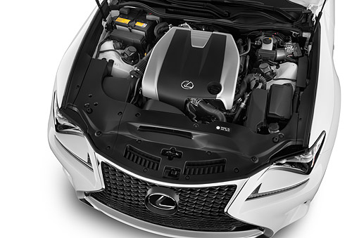 AUT 30 IZ3159 01 © Kimball Stock 2015 Lexus RC 350 2-Door Coupe Engine Detail