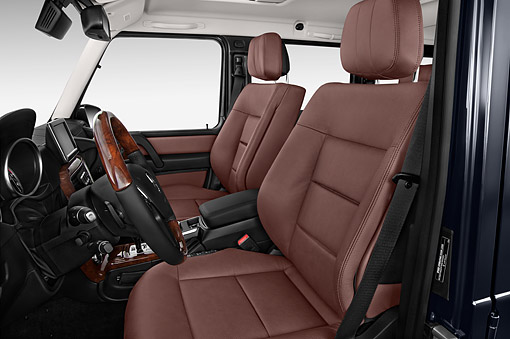 AUT 30 IZ3184 01 © Kimball Stock 2015 Mercedes Benz G-Class G550 5-Door SUV Interior Detail