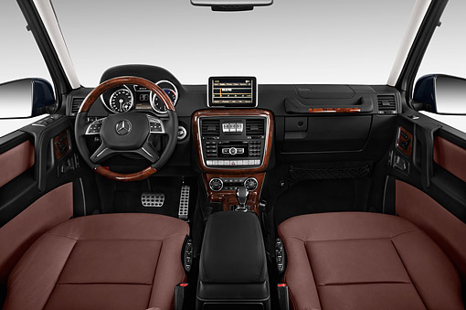 AUT 30 IZ3185 01 © Kimball Stock 2015 Mercedes Benz G-Class G550 5-Door SUV Interior Detail